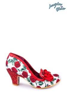 Irregular Choice Red Kanjanka Tab Court Shoes