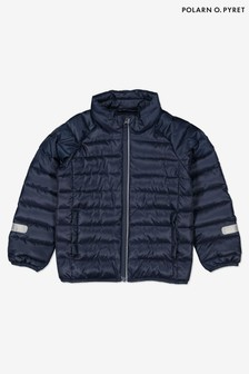 Polarn O. Pyret Blue Recycled Polyester Padded Jacket