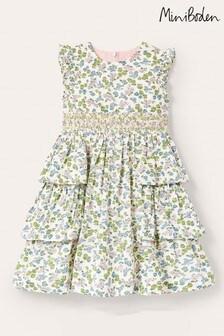 Boden Multi Tiered Skirt Smocked Dress