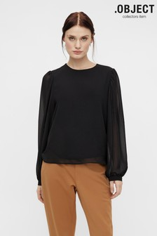 OBJECT Sustainable Mila Puff Sleeve Top
