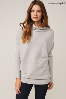 Phase Eight Grey Jocelin Roll Neck Tunic