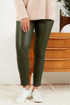 Baukjen Green Lauren Leather Leggings