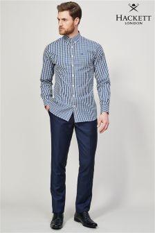 Hackett Blue Plain Wool Trouser