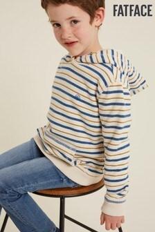 FatFace Natural Textured Stripe Popover Sweater