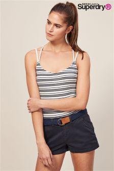 Superdry White Stripe Bodysuit