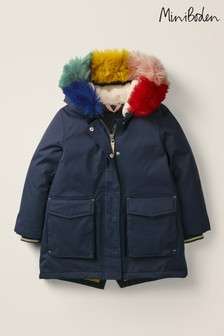 Boden Navy Cosy Waterproof Coat