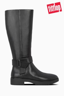 FitFlop™ Black Knot Knee High Boots