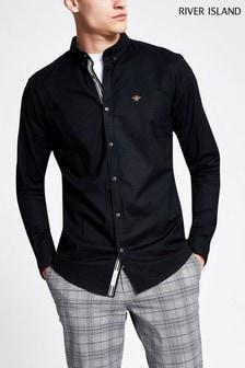 River Island Black Oxford Shirt