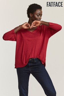 FatFace Red Saskia Top