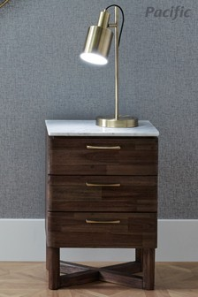 Aaron Antique Brass Metal Task Table Lamp by Pacific Lifestyle