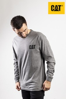 CAT® Grey Trademark Banner Long Sleeve T-Shirt