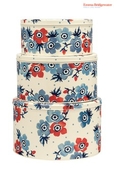 Set of 3 Emma Bridgewater Anemone Round Nested Cake Tins