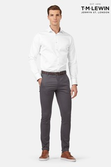 T.M. Lewin Felton Grey Italian Stretch Skinny Fit Chinos