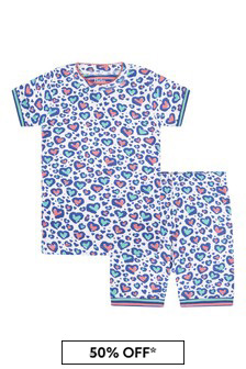 Hatley Kids & Baby Hatley Cheetah Hearts Organic Cotton Short Pyjama Set