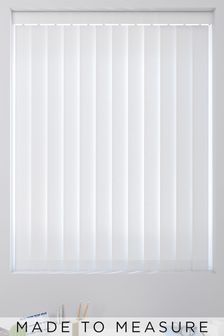 Tonal Stripe White Made To Measure Vertical Blind