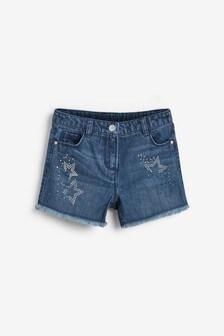 Diamanté Star Shorts (3-16yrs)