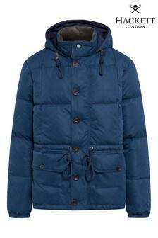 Hackett Blue Sueded Nylon Padded Jacket