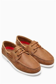 Waxed Leather Boat Shoe