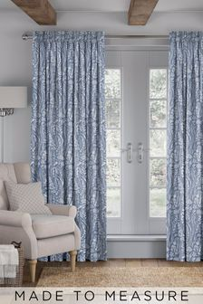 Garrick Denim Blue Made To Measure Curtains