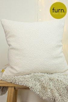 Furn Ivory Malham So Soft Shearling Fleece Cushion