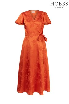 Hobbs Orange Eleanor Dress