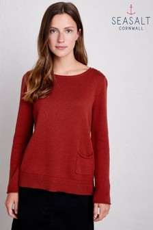 Seasalt Red Fillial Umber Jumper