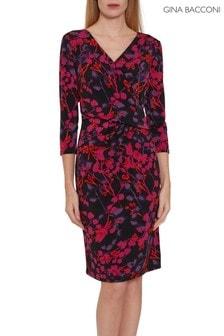 Gina Bacconi Pink Kirpa Wrap Dress