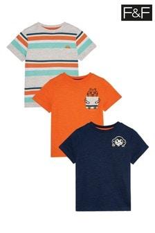 F&F Orange T-Shirts Three Pack