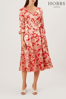 Hobbs Red Justina Dress