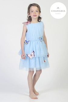 Charabia Blue Butterfly Dress