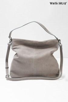 White Stuff Grey Shona Nubuck Hobo Bag