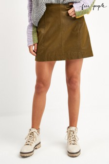 Free People Vegan Suede Mini Skirt