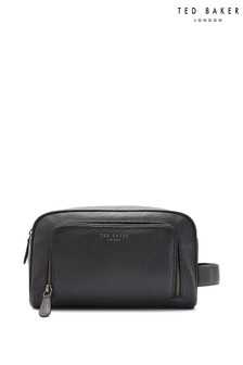Ted Baker Black Leather Washbag