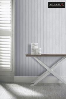 Tongue & Groove Wood Panel Wallpaper by Arthouse