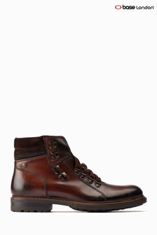Base London® Brown Radley Lace-Up Ankle Boots