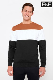 F&F Multi Embossed NYC Cut And Sew Crew Sweater