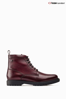 Base London® Red Forge Lace-Up Biker Boots