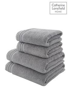 4 Piece Pom Pom Zero Twist Towel Bale by Catherine Lansfield