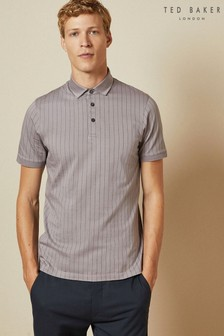 Ted Baker Purple Airflow Striped Polo Top
