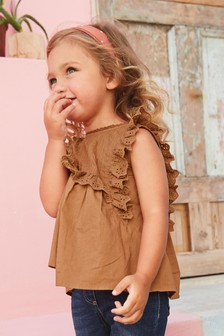 Embroidered Cotton Blouse (3mths-7yrs)