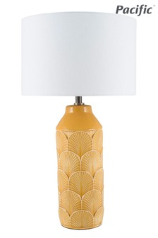 Bethan Embossed Ceramic Table Lamp by Pacific Lifestyle