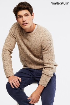 White Stuff Natural Rydal Cable Crew Sweater