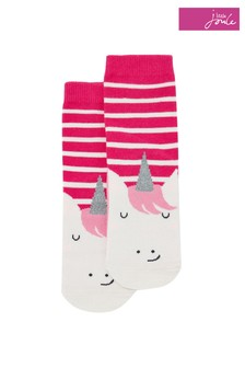 Joules Pink Neat Feet Character Socks