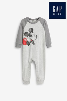 Gap Grey Disney™ Mickey Mouse™ Sleepsuit