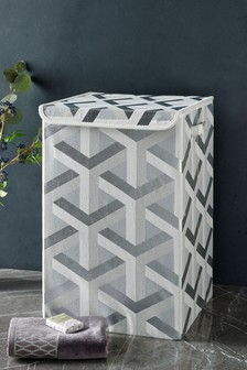 Metallic Geo Laundry Hamper