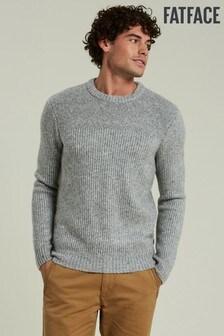 FatFace Grey Hayten Fit Crew Sweater