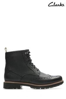 Clarks Black Batcombe Lord Boot