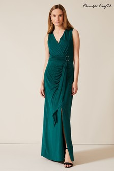 Phase Eight Green Caylee Drape Maxi Dress