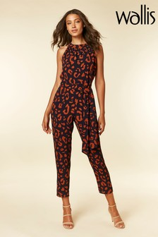 Wallis Animal Halter Neck Jumpsuit