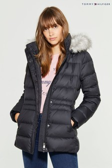Tommy Hilfiger Black New Tyra Down Jacket
